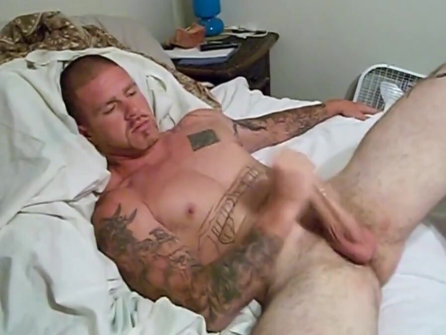 Big Dick Stud Jerks Off & Cums for and Admirer