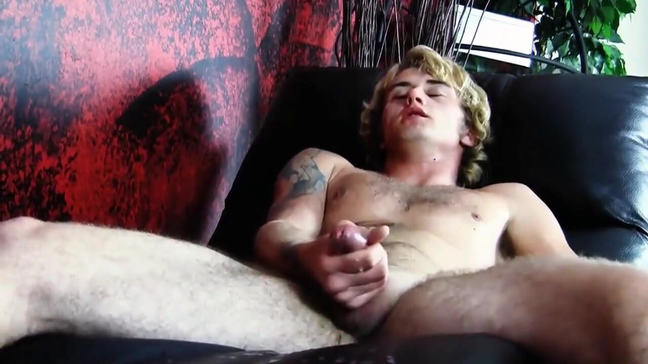 Blonde Twink Hoses Furniture Down with Cum 3