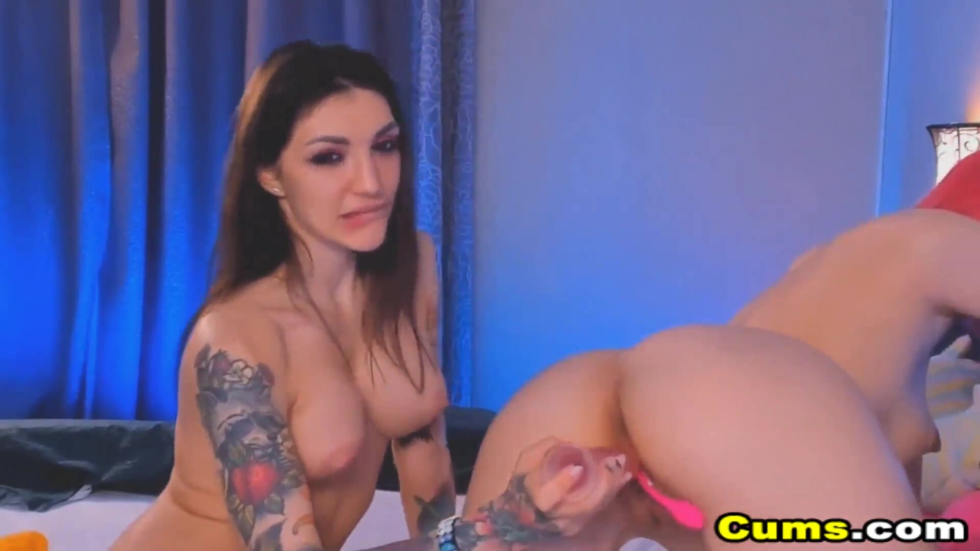 Lesbian Couple Toying Their Pussy